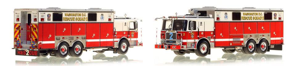 Washington DC Fire & EMS Seagrave Rescue Squad 2 scale model