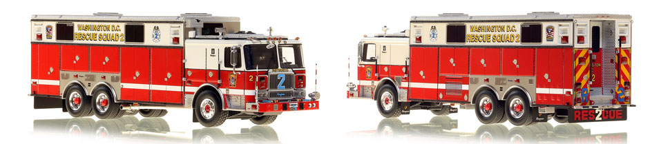 All new DC Fire & EMS Rescue Squad 2 scale model