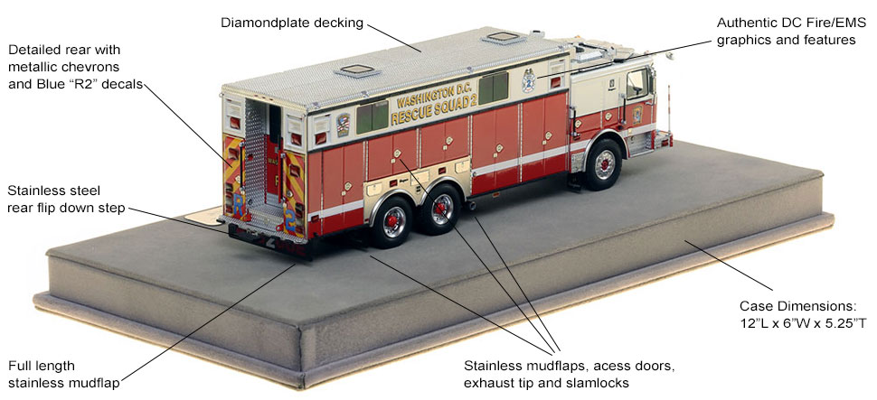 Specs and Features of DC Fire and EMS Rescue 2 scale model
