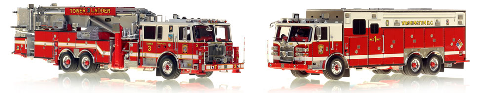 DC Tower 3 and HazMat 1 scale models