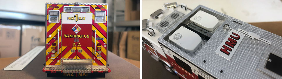 Close up images 1-2 of DC Fire & EMS Haz-Mat 1 scale model