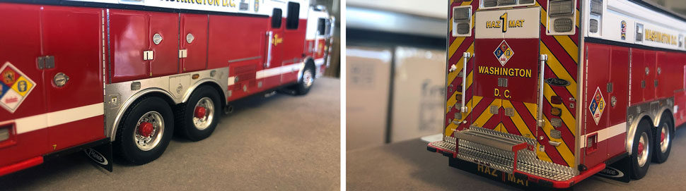 Close up images 5-6 of DC Fire & EMS Haz-Mat 1 scale model