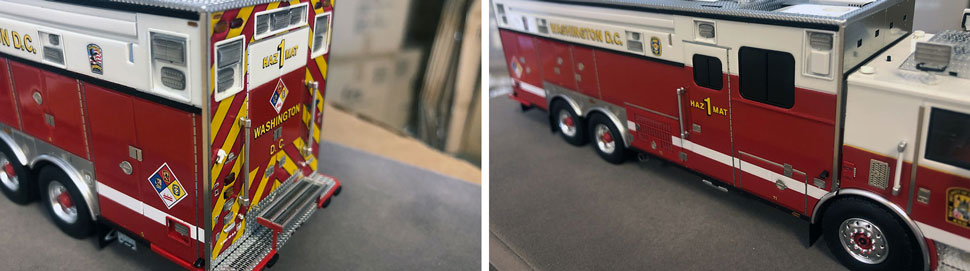 Close up images 7-8 of DC Fire & EMS Haz-Mat 1 scale model