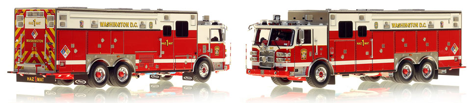 Washington DC Fire & EMS Pierce Arrow XT HazMat 1 scale model