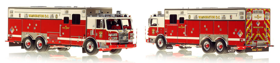 DC's HazMat 1 scale model is hand-crafted and intricately detailed.