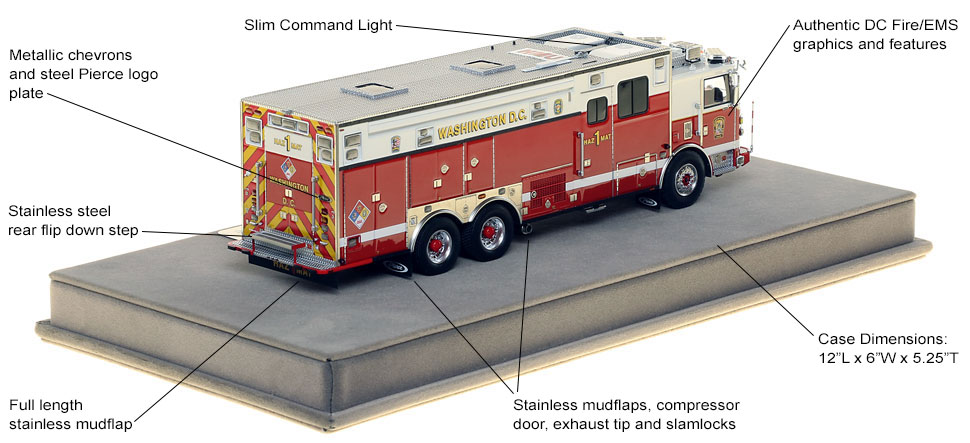Specs and Features of DC Fire and EMS HazMat 1 scale model