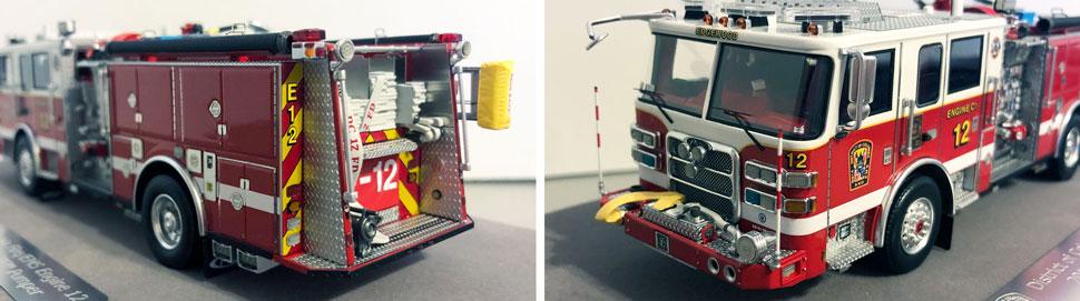 Closeup pics 3-4 of DC Fire & EMS Engine 12 scale model