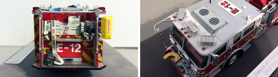 Closeup pics 5-6 of DC Fire & EMS Engine 12 scale model