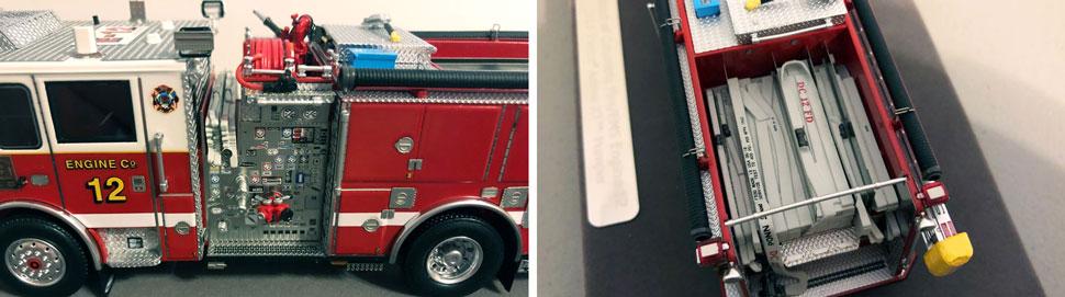 Closeup pics 7-8 of DC Fire & EMS Engine 12 scale model