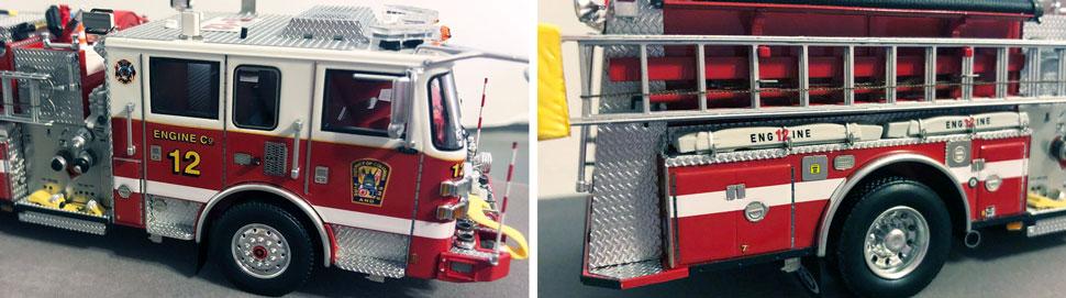 Closeup pics 9-10 of DC Fire & EMS Engine 12 scale model