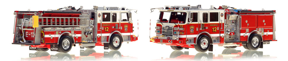 The first museum grade scale model Engine 12 for DC Fire and EMS
