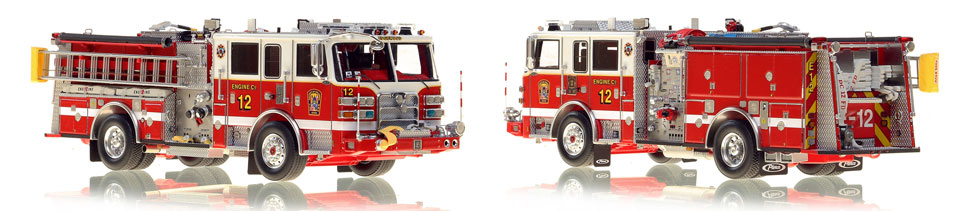 DC Engine 12 scale model is hand-crafted and intricately detailed.