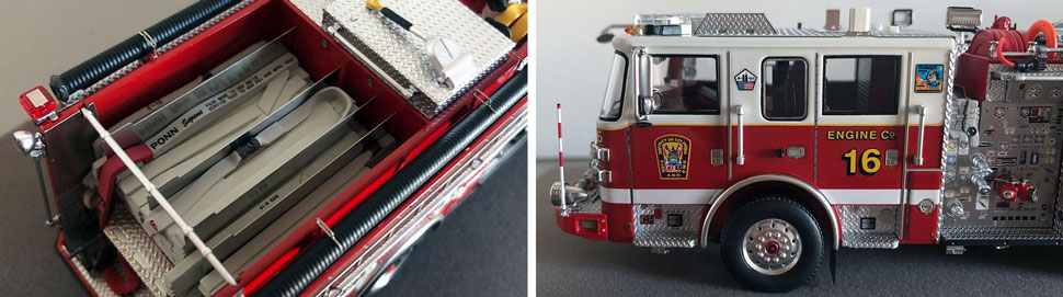 Close up images 1-2 of DC Fire & EMS Engine 16 scale model
