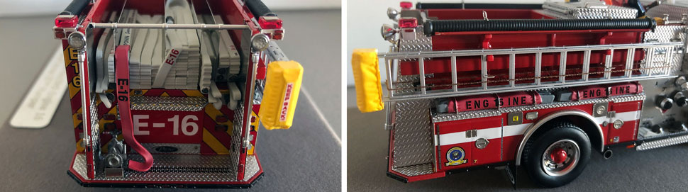 Close up images 7-8 of DC Fire & EMS Engine 16 scale model
