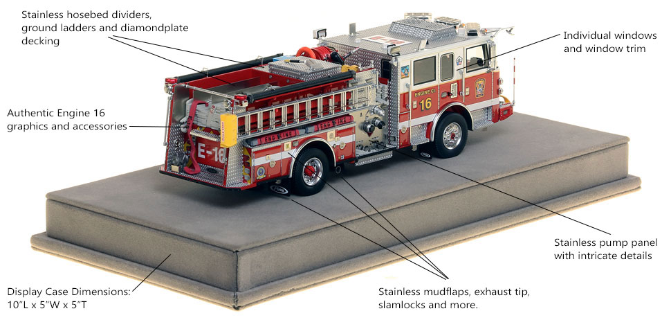 Specs and Features of DC Fire and EMS Engine 16 scale model