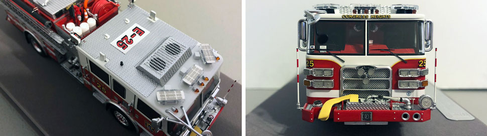 Close up images 1-2 of DC Fire & EMS Engine 25 scale model
