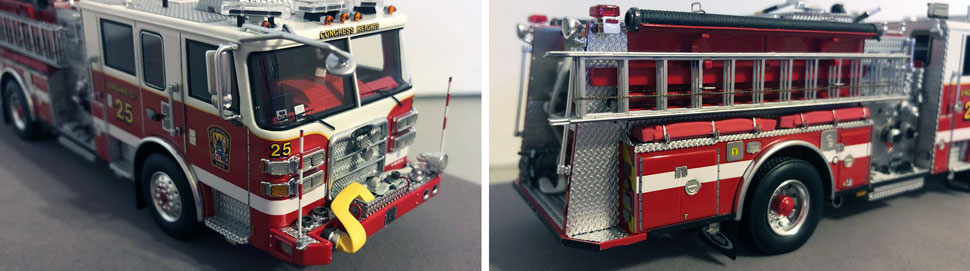 Close up images 3-4 of DC Fire & EMS Engine 16 scale model