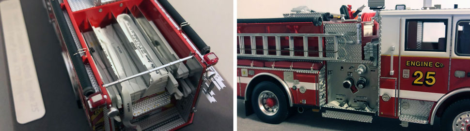 Close up images 5-6 of DC Fire & EMS Engine 16 scale model