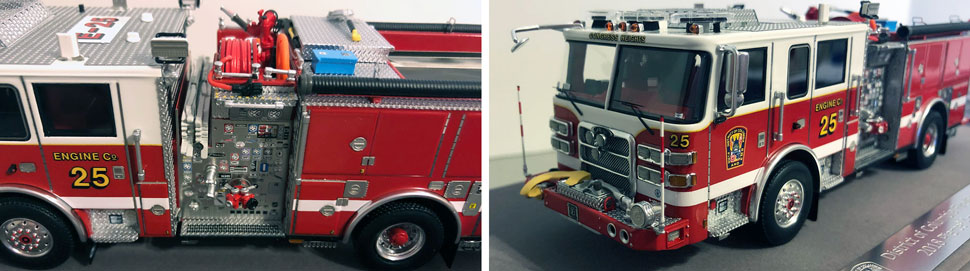 Close up images 9-10 of DC Fire & EMS Engine 16 scale model