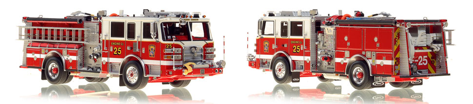 The first museum grade scale model Engine 25 for DC Fire and EMS