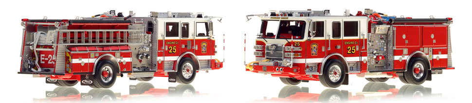 DC Engine 25 scale model is hand-crafted and intricately detailed.