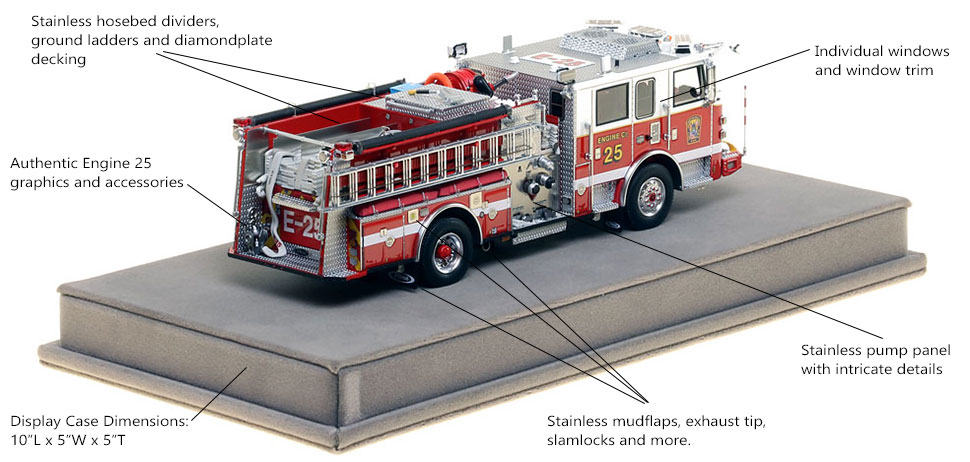 Specs and Features of DC Fire and EMS Engine 25 scale model