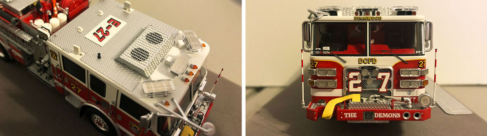 Close up images 1-2 of DC Fire & EMS Engine 27 scale model