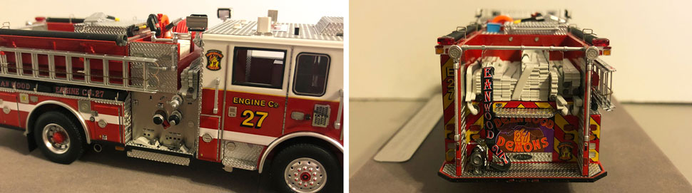 Close up images 3-4 of DC Fire & EMS Engine 27 scale model