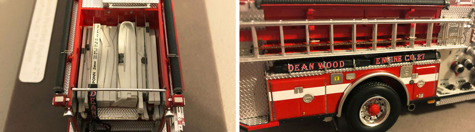Close up images 7-8 of DC Fire & EMS Engine 27 scale model