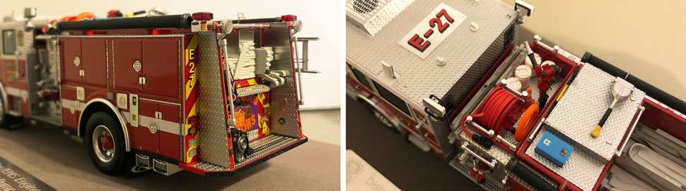 Close up images 9-10 of DC Fire & EMS Engine 27 scale model