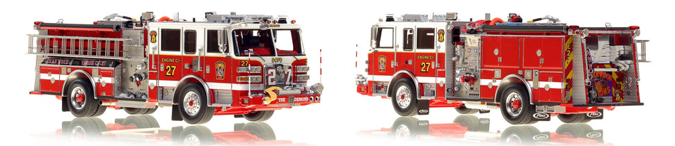 The first museum grade scale model Engine 27 for DC Fire and EMS