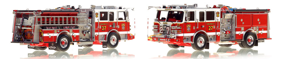DC Engine 27 scale model is hand-crafted and intricately detailed.