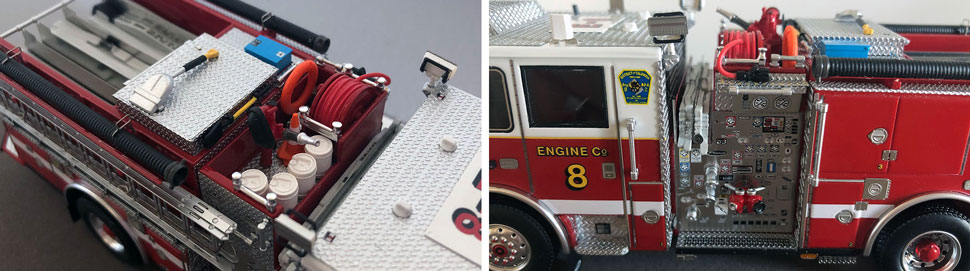 Close up images 3-4 of DC Fire & EMS Engine 8 scale model
