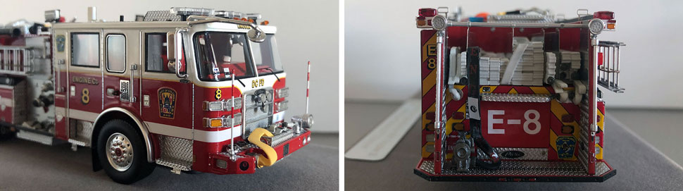 Close up images 5-6 of DC Fire & EMS Engine 8 scale model