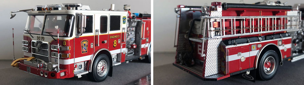 Close up images 7-8 of DC Fire & EMS Engine 8 scale model