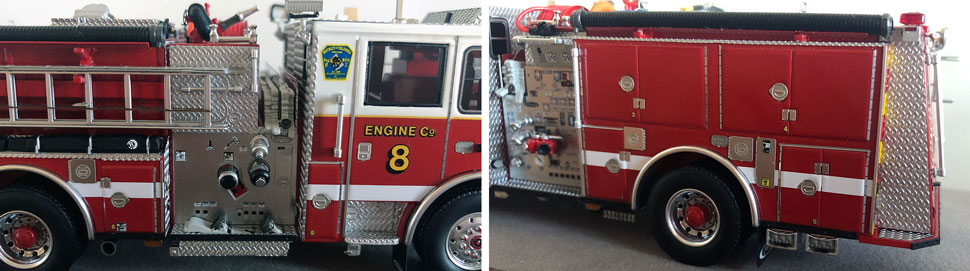 Close up images 9-10 of DC Fire & EMS Engine 8 scale model