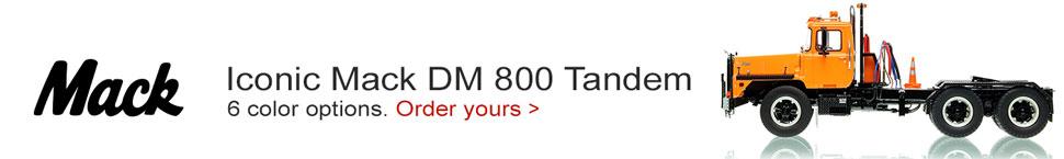 Order your Mack DM 800 in orange over black today!