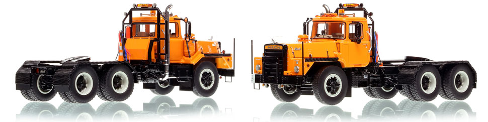 Mack DM 800 tandem axle tractor scale model is hand-crafted and intricately detailed.