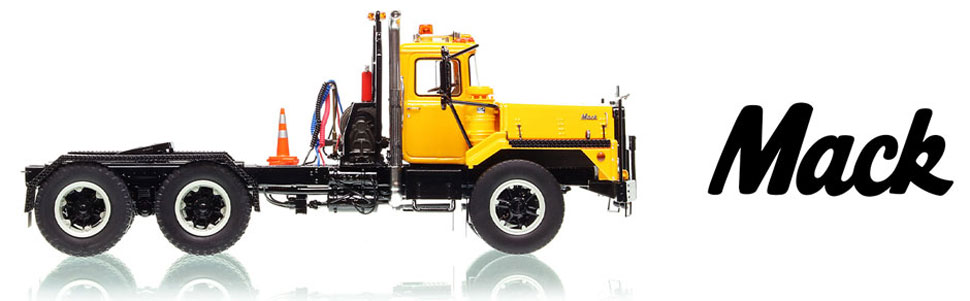 Mack DM 800 tandem axle tractor in 1:50 scale