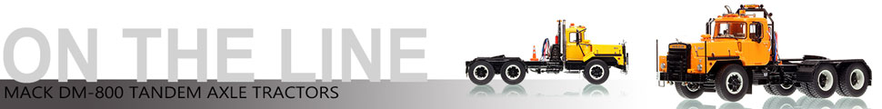Assembly pictures of Mack DM 800 tandem axle tractor scale model