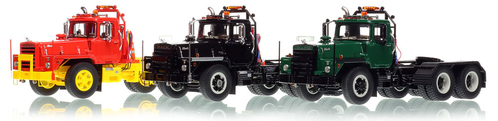 Mack DM 800 tandem tractor scale models available in 6 colors