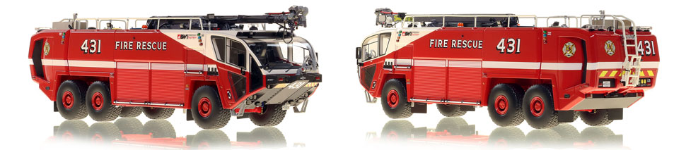 Baltimore Washington Fire and Rescue 431 is hand-crafted and intricately detailed.
