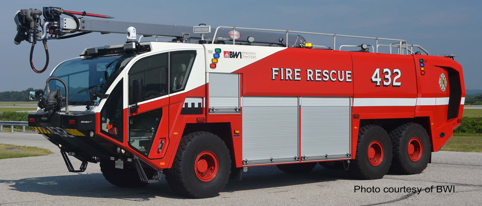 Baltimore Washington International Fire & Rescue 432 Oshkosh 6x6 Striker 3000