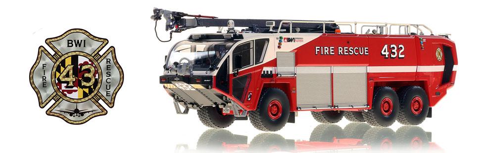 Baltimore Washington Fire & Rescue Oshkosh Striker 3000 - Rescue 432 scale model