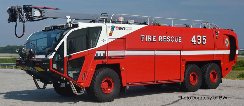 Baltimore Washington International Fire & Rescue 435 Oshkosh 6x6 Striker 3000