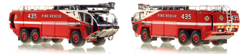 Baltimore Washington Fire and Rescue 435 is hand-crafted and intricately detailed.