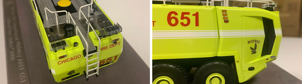 Close up images 5-6 of Chicago Midway ARFF 651 scale model