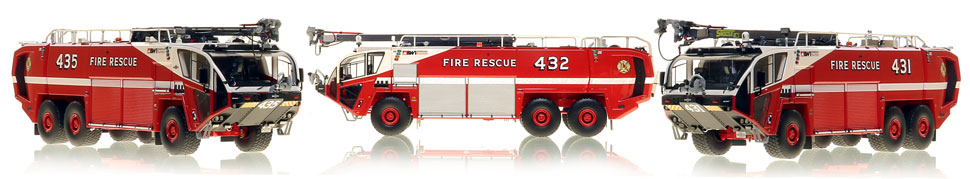 Baltimore Washington Fire & Rescue Oshkosh 6x6 Striker 3000 scale models