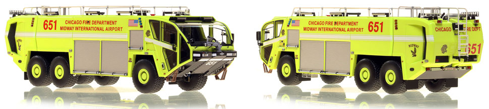 Chicago Midway ARFF 651 scale model is hand-crafted and intricately detailed.