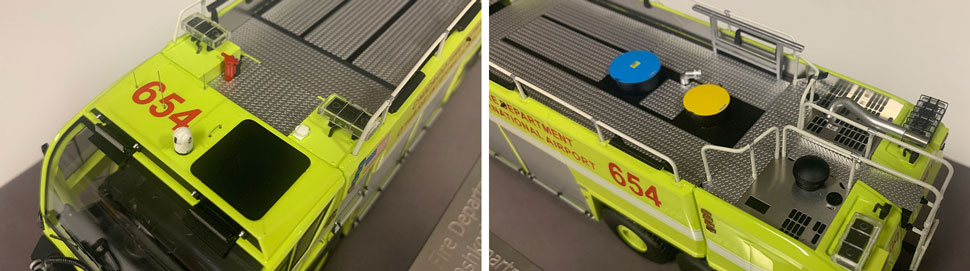 Close up images 3-4 of Chicago O'Hare ARFF 654 scale model